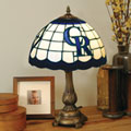 Colorado Rockies MLB Stained Glass Tiffany Table Lamp