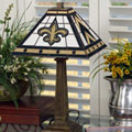 New Orleans Saints NFL Stained Glass Mission Style Table Lamp