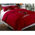 "Arizona Cardinals NFL Twin Chenille Embroidered Comforter Set with 2 Shams 64"" x 86"""