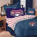 Washington Nationals Team Denim Queen Comforter / Sheet Set