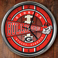 "Georgia UGA Bulldogs NCAA College 12"" Chrome Wall Clock"