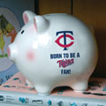 Minnesota Twins MLB Ceramic Piggy Bank