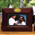 "Iowa Hawkeyes NCAA College 8"" x 10"" Brown Horizontal Picture Frame"