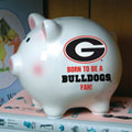 Georgia UGA Bulldogs NCAA College Ceramic Piggy Bank
