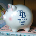 Tampa Bay Devil Rays MLB Ceramic Piggy Bank