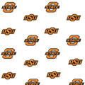 Oklahoma State Cowboys Fitted Crib Sheet - White