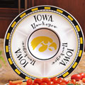 "Iowa Hawkeyes NCAA College 14"" Ceramic Chip and Dip Tray"