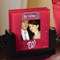 Washington Nationals MLB Art Glass Photo Frame Coaster Set