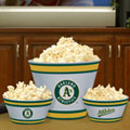 Oakland Athletics MLB Melamine 3 Bowl Serving Set