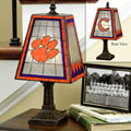 Clemson Tigers NCAA College Art Glass Table Lamp