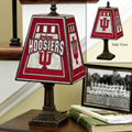 Indiana Hoosiers NCAA College Art Glass Table Lamp