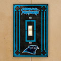 Carolina Panthers NFL Art Glass Single Light Switch Plate Cover