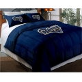 "St. Louis Rams NFL Twin Chenille Embroidered Comforter Set with 2 Shams 64"" x 86"""