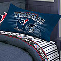 Houston Texans Full Size Pinstripe Sheet Set