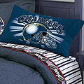San Diego Chargers Twin Size Pinstripe Sheet Set