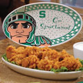 "Michigan State Spartans NCAA College 12"" Gameday Ceramic Oval Platter"