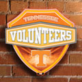 Tennessee Vols NCAA College Neon Shield Wall Lamp
