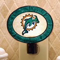 Miami Dolphins NFL Art Glass Nightlight