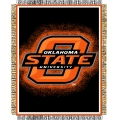 "Oklahoma State Cowboys NCAA College ""Focus"" 48"" x 60"" Triple Woven Jacquard Throw"