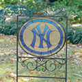 New York Yankees MLB Stained Glass Outdoor Yard Sign