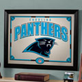 Carolina Panthers NFL Framed Glass Mirror