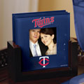 Minnesota Twins MLB Art Glass Photo Frame Coaster Set