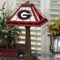 Georgia UGA Bulldogs NCAA College Stained Glass Mission Style Table Lamp