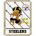 "Pittsburgh Steelers NFL Baby 36"" x 46"" Triple Woven Jacquard Throw"