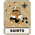 "New Orleans Saints NFL Baby 36"" x 46"" Triple Woven Jacquard Throw"
