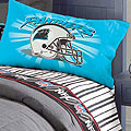 Carolina Panthers Queen Pinstripe Sheet Set