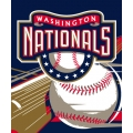 "Washington Nationals MLB ""Big Stick"" 50"" x 60"" Super Plush Throw"