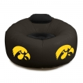 Iowa Hawkeyes NCAA College Vinyl Inflatable Chair w/ faux suede cushions