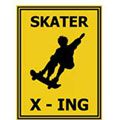 SKATER X - ING - Contemporary mount print with beveled edge