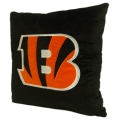 "Cincinnati Bengals NFL 16"" Embroidered Plush Pillow with Applique"