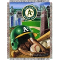 "Oakland Athletics MLB ""Home Field Advantage"" 48"" x 60"" Tapestry Throw"