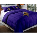 "Minnesota Vikings NFL Twin Chenille Embroidered Comforter Set with 2 Shams 64"" x 86"""