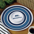 "Seattle Seahawks NFL 14"" Round Melamine Chip and Dip Bowl"