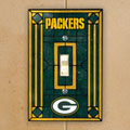 Green Bay Packers NFL Art Glass Single Light Switch Plate Cover