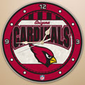 "Arizona Cardinals NFL 12"" Round Art Glass Wall Clock"
