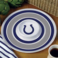 "Indianapolis Colts NFL 14"" Round Melamine Chip and Dip Bowl"