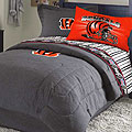 Cincinnati Bengals NFL Team Denim Twin Comforter / Sheet Set