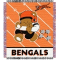 "Cincinnati Bengals NFL Baby 36"" x 46"" Triple Woven Jacquard Throw"