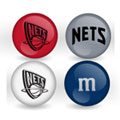 New Jersey Nets Custom Printed NBA M&M's With Team Logo