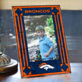 "Denver Broncos NFL 9"" x 6.5"" Vertical Art-Glass Frame"