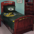 "Green Bay Packers NFL Twin Comforter Set 63"" x 86"""