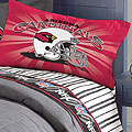Arizona Cardinals Twin Size Pinstripe Sheet Set