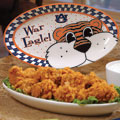 "Auburn Tigers NCAA College 12"" Gameday Ceramic Oval Platter"