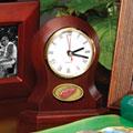 Detroit Redwings NHL Brown Desk Clock
