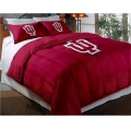 "Indiana Hoosiers College Twin Chenille Embroidered Comforter Set with 2 Shams 64"" x 86"""