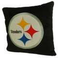 "Pittsburgh Steelers NFL 16"" Embroidered Plush Pillow with Applique"